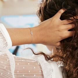 Bracelet Tania Argent Blanc Pierre De Synthese Et Oxyde De Zirconium - Bracelets fantaisie Femme   Histoire d'Or