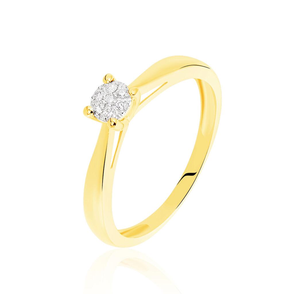 Bague Solitaire Grace Or Jaune Diamant - Bagues solitaires Femme   Histoire d'Or