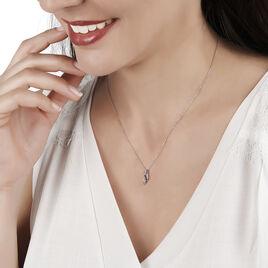 Collier Rosalyne Or Blanc Saphir Et Diamant - Bijoux Femme | Histoire d'Or