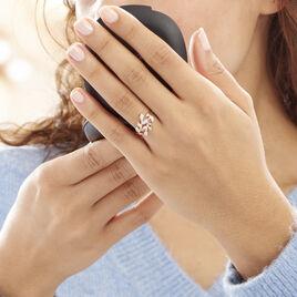 Bague Emelyne Or Rose Diamant - Bagues Plume Femme | Histoire d'Or