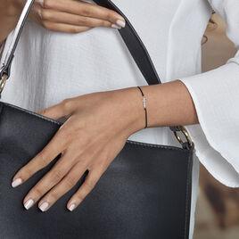 Bracelet Ashana Argent Blanc - Bracelets Croix Femme   Histoire d'Or