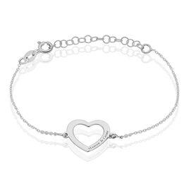 Bracelet Cylie Argent Blanc - Bracelets Coeur Femme | Histoire d'Or