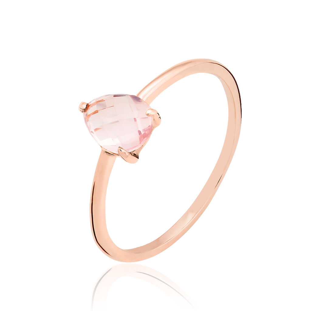 Bague Or Rose Quartz