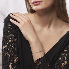 Bracelet Argent Rhodie Euriell Plume - Bracelets Plume Femme | Histoire d'Or