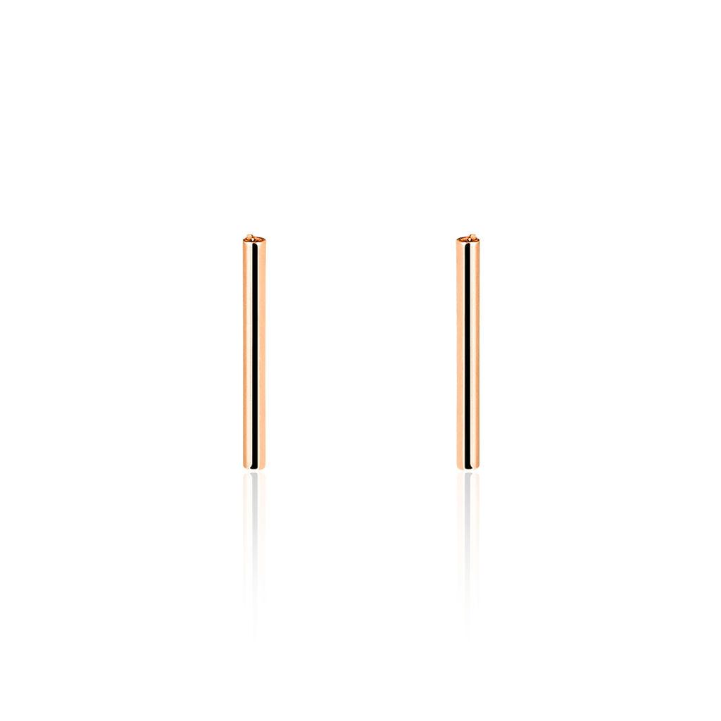 Boucles D'oreilles Puces Pink Or Rose - Clous d'oreilles Femme   Histoire d'Or