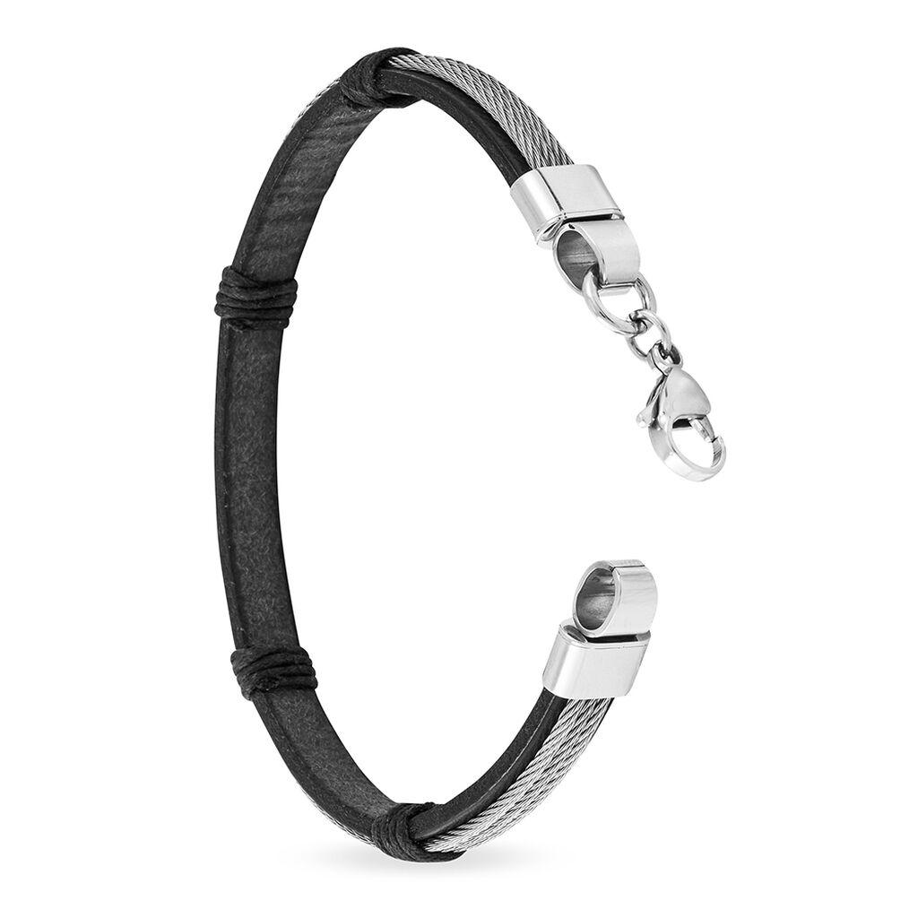 Bracelet Foune Acier Blanc - Bracelets fantaisie Homme | Histoire d'Or