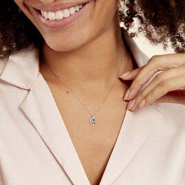 Collier Angelika Or Blanc Emeraude Et Diamant - Bijoux Femme   Histoire d'Or
