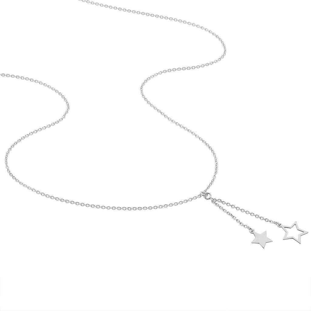 Collier Juliette Argent Blanc - Colliers Etoile Femme   Histoire d'Or
