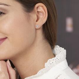 Boucles D'oreilles Puces Oiseaux Argent Blanc - Boucles d'oreilles fantaisie Femme | Histoire d'Or