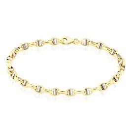 Bracelet Carlo Maille Marine Ronde Or Bicolore - Bracelets chaîne Homme   Histoire d'Or