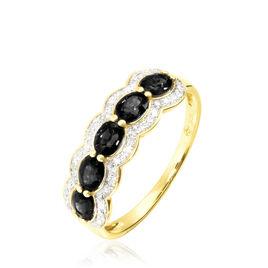 Bague Or Jaune Margaux Agates Noires - Bagues avec pierre Femme | Histoire d'Or