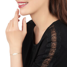 Bracelet Soline Or Jaune - Bracelets Plume Femme   Histoire d'Or