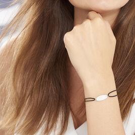 Bracelet Ovale Gravable Or Blanc - Bracelets cordon Femme | Histoire d'Or