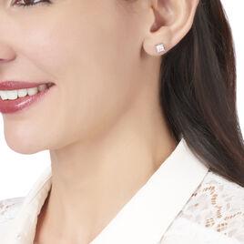 Boucles D'oreilles Puces Alys Argent Blanc Oxyde De Zirconium - Boucles d'oreilles fantaisie Femme   Histoire d'Or