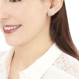 Boucles D'oreilles Puces Ravenna Or Jaune Diamant - Boucles d'Oreilles Coeur Femme | Histoire d'Or