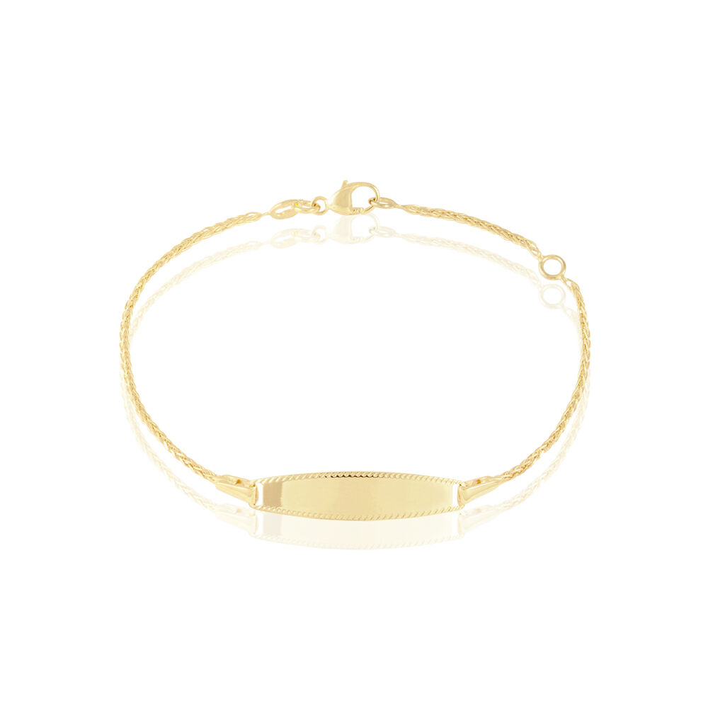 Bracelet Identité Euriel Maille Palmier Or Jaune - Bracelets Communion Enfant | Histoire d'Or