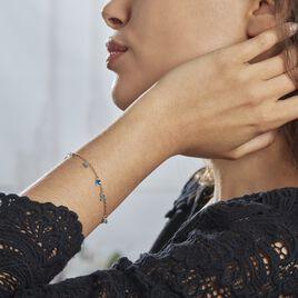 Bracelet Myosothis Plaque Or Pierres - Bracelets fantaisie Femme | Histoire d'Or