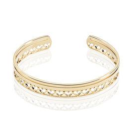 Bracelet Jonc Thaissia Plaque Or Jaune - Bracelets Coeur Femme | Histoire d'Or
