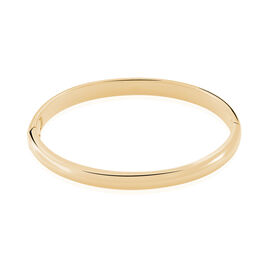 Bracelet Jonc Leonora Plaque Or Jaune - Bracelets joncs Femme | Histoire d'Or
