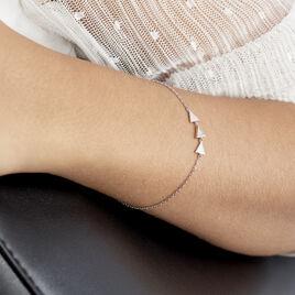Bracelet Bartoumieu Argent Blanc Oxyde De Zirconium - Bracelets fantaisie Femme | Histoire d'Or