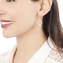 Boucles D'oreilles Pendantes Alexia Argent Blanc Oxyde De Zirconium - Boucles d'oreilles fantaisie Femme   Histoire d'Or