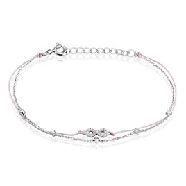 Bracelet Argent Rhodie Vera Infini Oxyde - Bracelets Coeur Femme   Histoire d'Or
