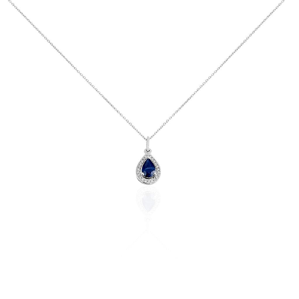 Collier Dorthy Or Blanc Saphir Et Diamant - Bijoux Femme | Histoire d'Or