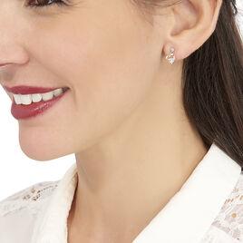 Boucles D'oreilles Pendantes Romance Or Jaune Oxyde De Zirconium - Boucles d'Oreilles Coeur Femme | Histoire d'Or