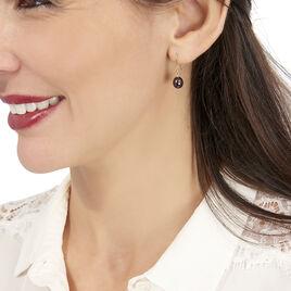 Boucles D'oreilles Pendantes Severiane Or Jaune Perle De Culture - Boucles d'Oreilles Coeur Femme | Histoire d'Or