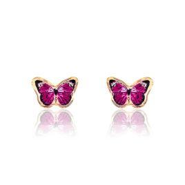 Boucles D'oreille Jaune - Clous d'oreilles Enfant | Histoire d'Or