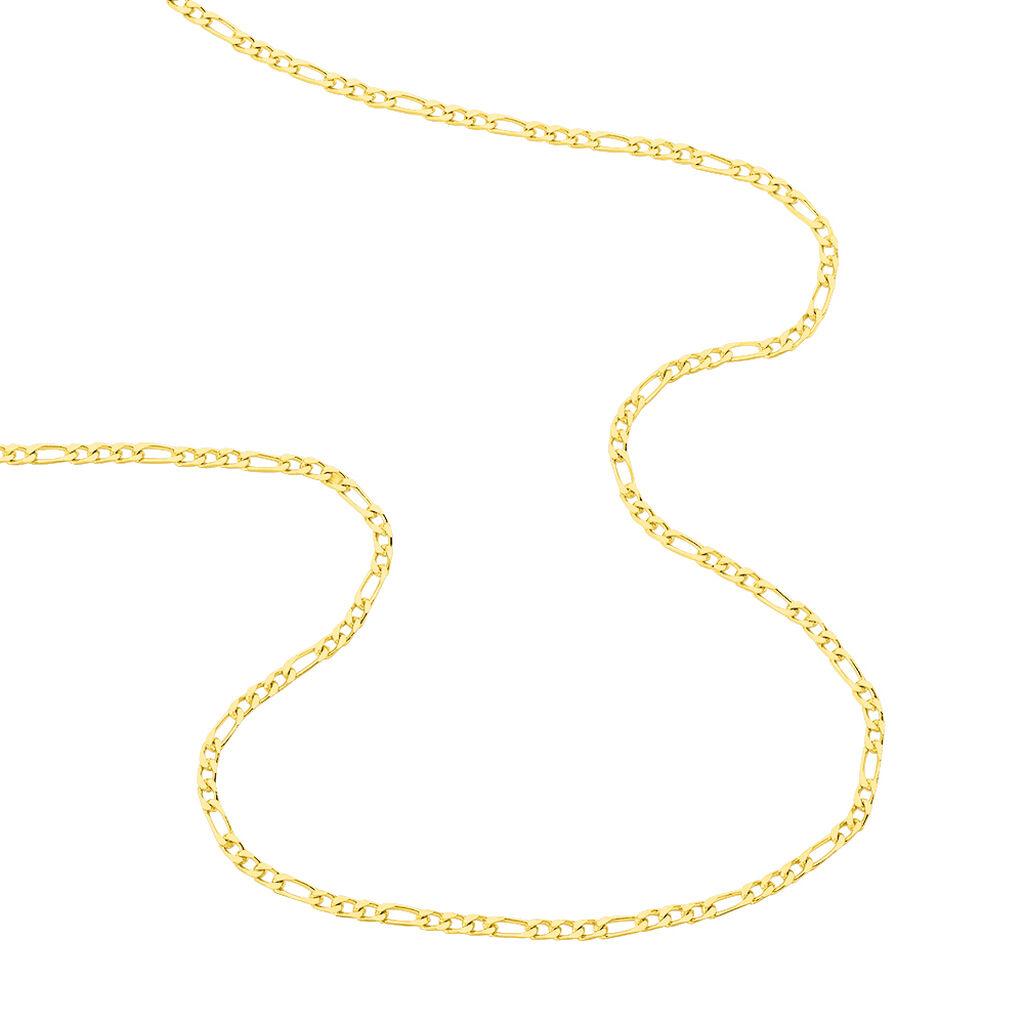 Chaîne Bixente Maille Alternee 1/3 Plaque Or Jaune - Chaines Homme   Histoire d'Or