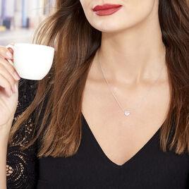 Collier Samia Argent Blanc Oxyde De Zirconium - Colliers Coeur Femme | Histoire d'Or