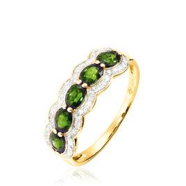 Bague Margaux Or Jaune Péridot Et Diamant - Bagues avec pierre Femme   Histoire d'Or