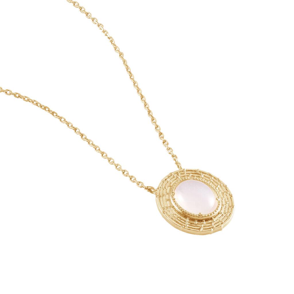 Collier Linna Plaque Or Jaune Pierre De Lune - Bijoux Femme | Histoire d'Or