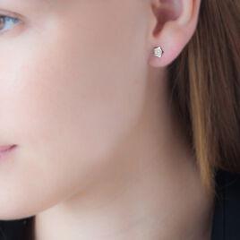 Boucles D'oreilles Puces Elais Etoile 0 Or Jaune Strass - Boucles d'Oreilles Etoile Femme | Histoire d'Or