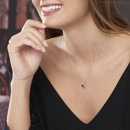 Collier Kriska Or Blanc Saphir Et Diamant - Bijoux Femme   Histoire d'Or
