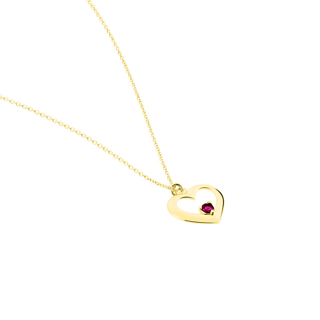 Collier Martella Or Jaune Rubis - Colliers Coeur Femme | Histoire d'Or