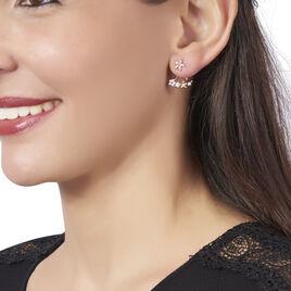 Bijoux D'oreilles Shaniz Argent Rose Oxyde De Zirconium - Boucles d'oreilles fantaisie Femme   Histoire d'Or