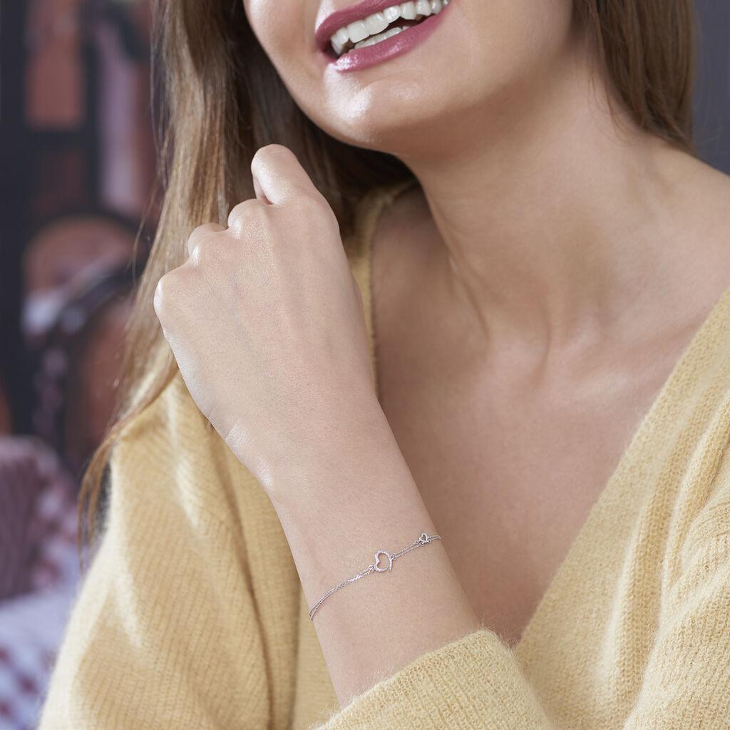 Bracelet Louise Or Blanc Diamant - Bracelets Coeur Femme   Histoire d'Or