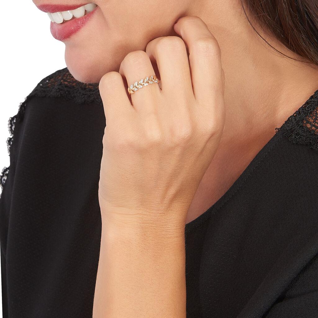 Bague Berinice Or Jaune Diamant - Bagues avec pierre Femme | Histoire d'Or