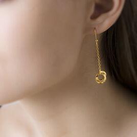 Boucles D'oreilles Pendantes Fahariaae Or Jaune - Boucles d'oreilles pendantes Femme | Histoire d'Or