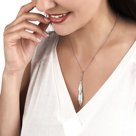 Collier Euriell Argent Blanc - Colliers Plume Femme | Histoire d'Or
