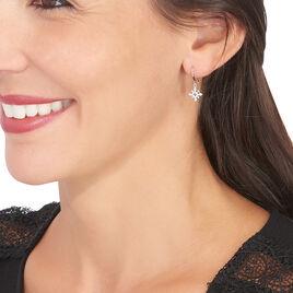 Boucles D'oreilles Puces Anea Or Blanc Diamant - Clous d'oreilles Femme | Histoire d'Or