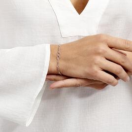 Bracelet Enoah Argent Blanc - Bracelets Infini Femme | Histoire d'Or