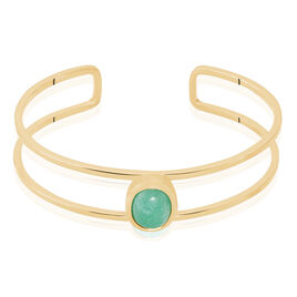 Bracelet Jonc Veina Plaque Or Jaune Aventurine - Bracelets joncs Femme | Histoire d'Or