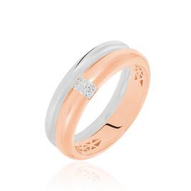 Bague Hajila Or Bicolore Diamant - Bagues avec pierre Femme | Histoire d'Or