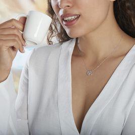 Collier Norina Or Blanc Diamant - Colliers Arbre de vie Femme   Histoire d'Or