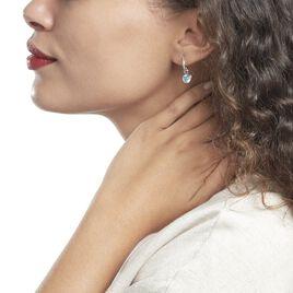 Creole Unitaire Argent Rhodié Ancelin Oxydes De Zirconium - Boucles d'oreilles créoles Femme   Histoire d'Or