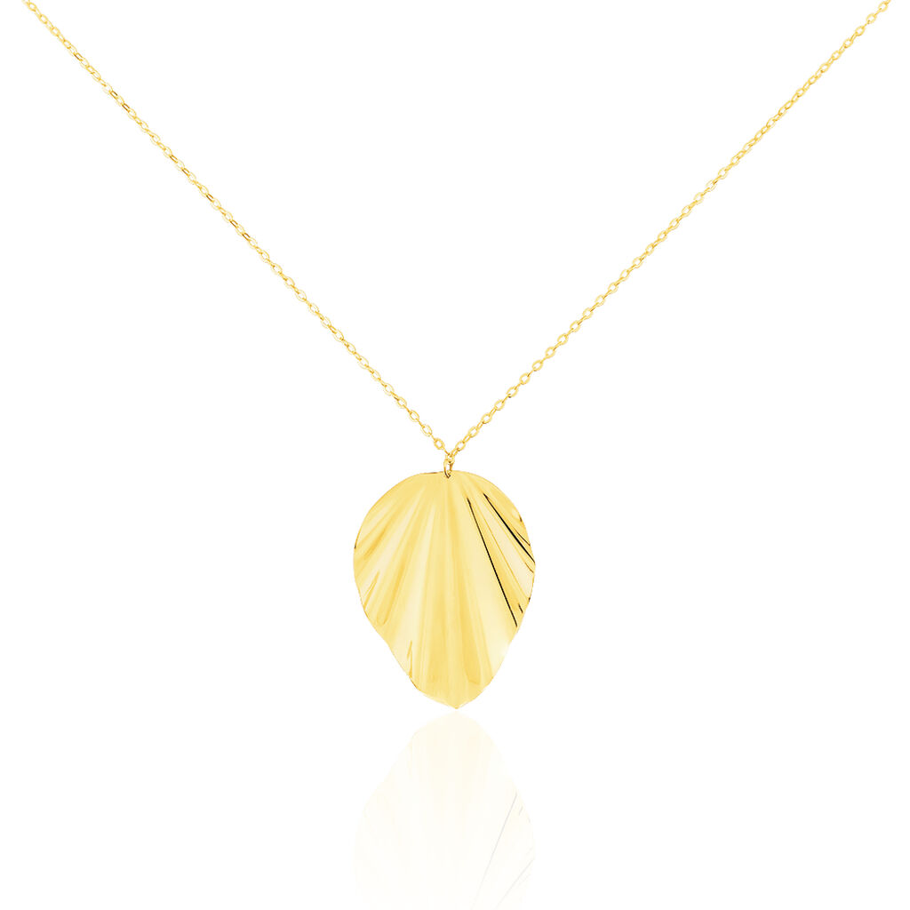 Collier Eclat Froisse Or Jaune - Colliers Plume Femme   Histoire d'Or