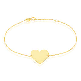 Bracelet Coeur Gravable Or Jaune - Bracelets Coeur Femme | Histoire d'Or